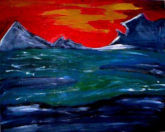 Landscape Painting - Horizonne by Johnna Crider