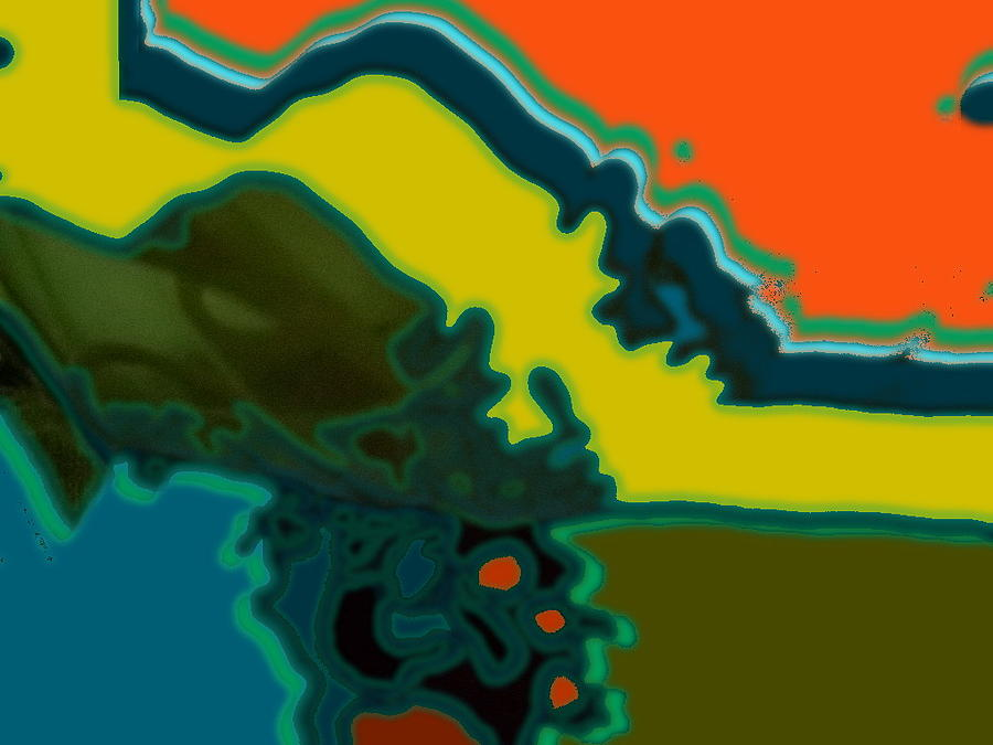 Horizontal Shape Ba Digital Art by Therese AbouNader