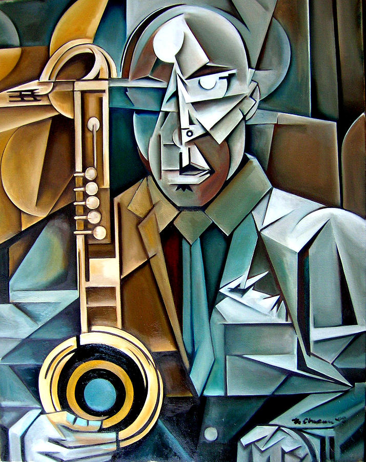 Horn And Man Painting by Martel Chapman