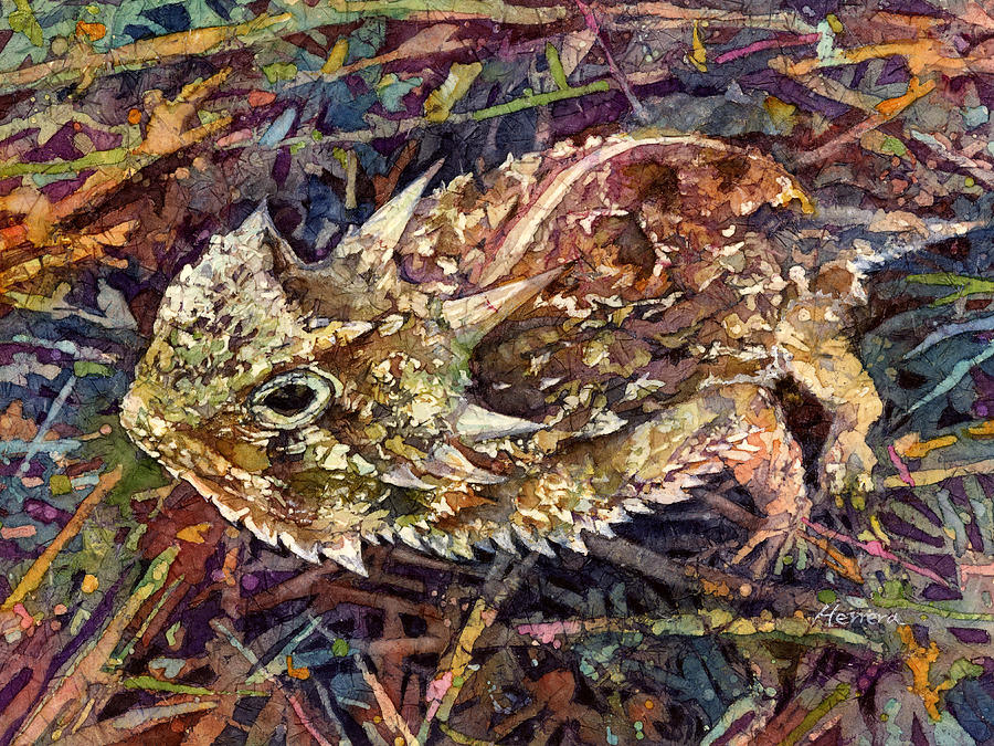 Horned Toad Painting