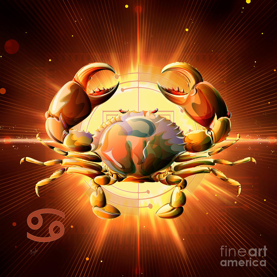 Horoscope Signs Cancer Digital Art By Peter Awax