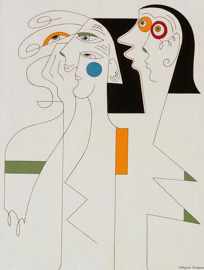 Horror Painting by Hildegarde Handsaeme