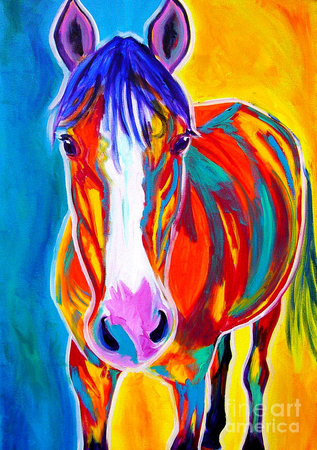 Horse Painting - Horse - Pistol by Alicia VanNoy Call