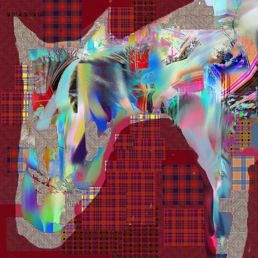 Abstract Digital Art - Horse 2 by Dave Kwinter