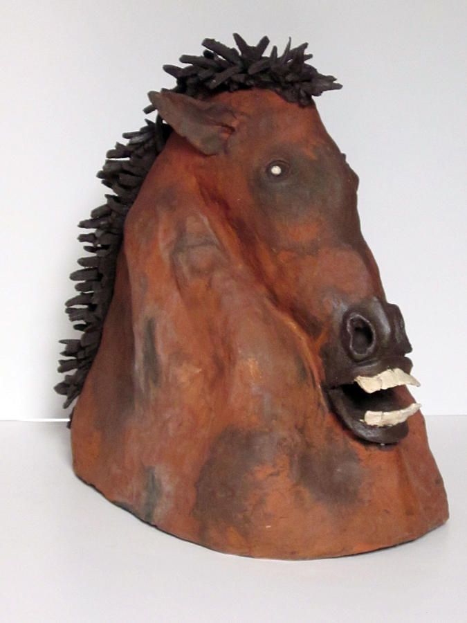 Clay Sculpture Sculpture - Horse by Andre Ferron