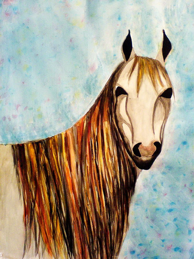 Water Colour Painting - Horse by Anila Choudary