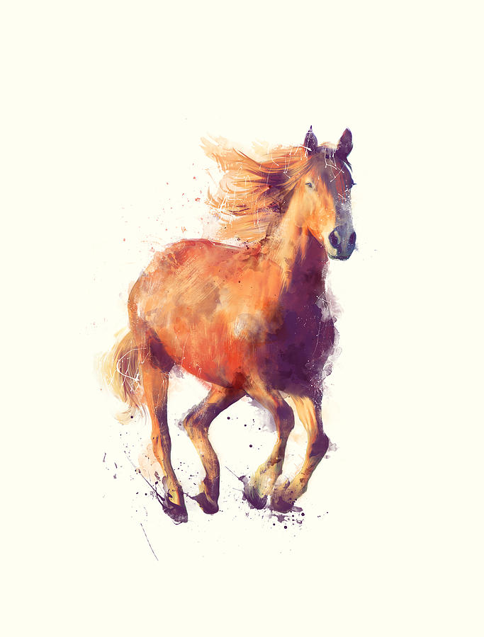 Horse Painting - Horse // Boundless by Amy Hamilton