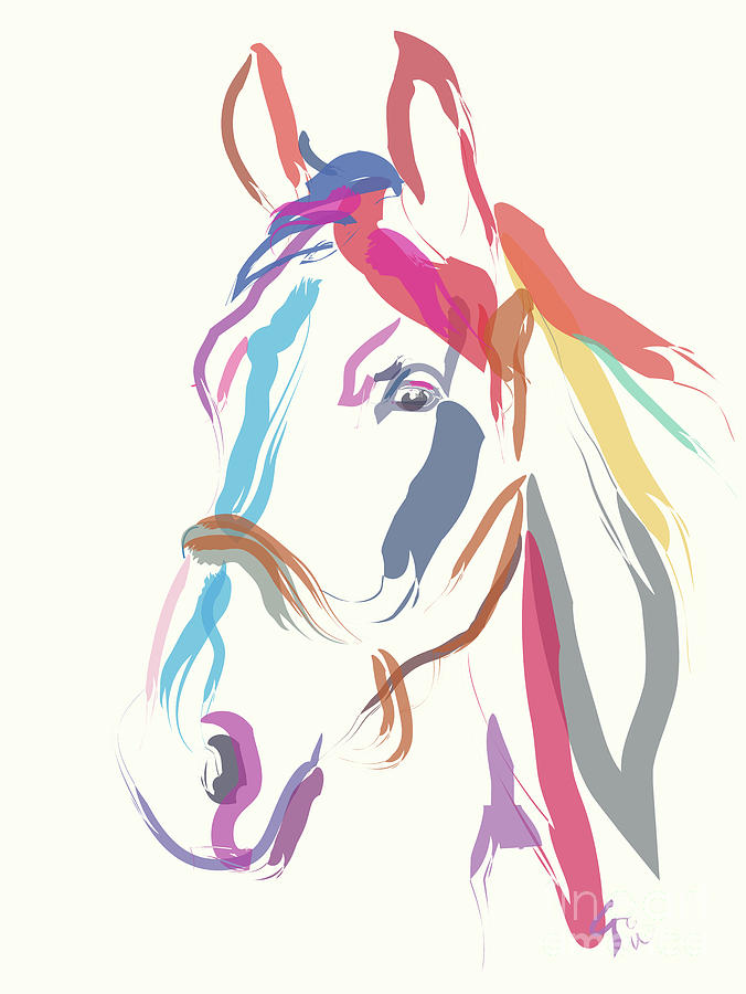Horse Colour me Beautiful in Ecru by Go Van Kampen