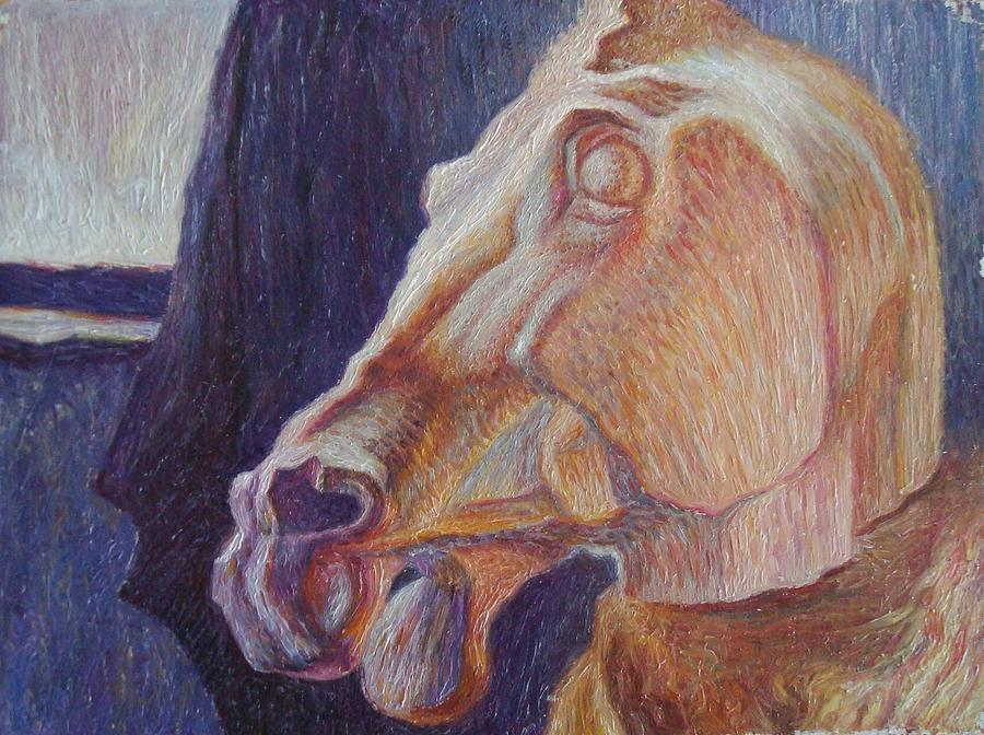 Horse Painting - Horse by Denis Hmylnin
