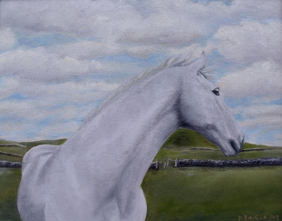 Horse Painting - Horse by Diane Daigle