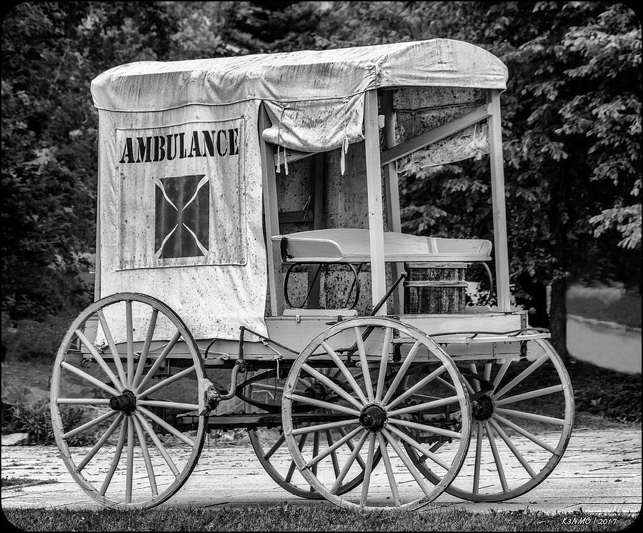Ambulance Photograph - Horse Drawn Ambulance  by Ken Morris