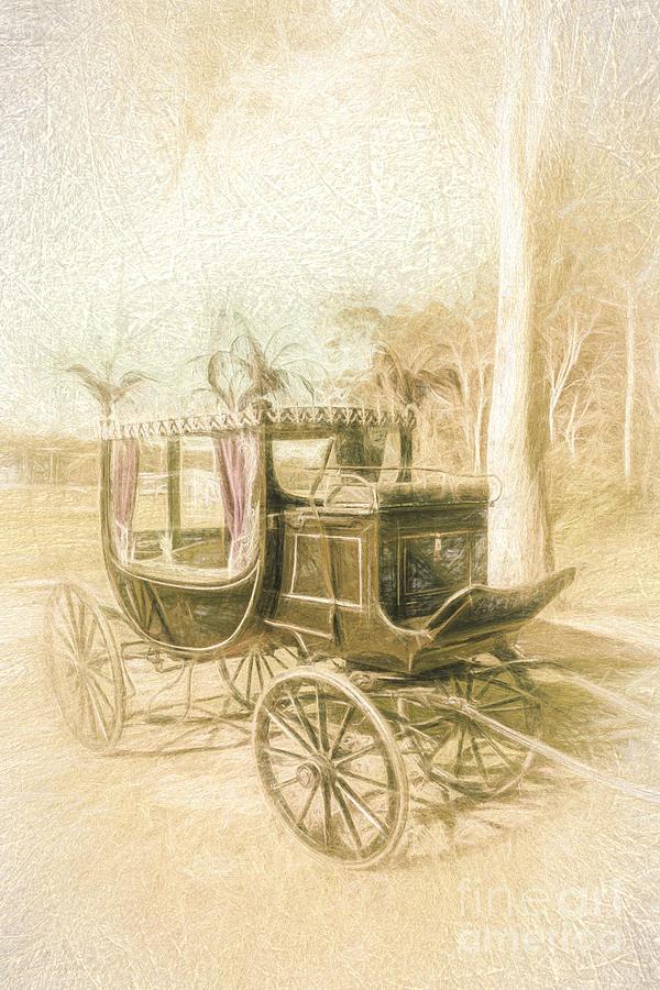 Carriage Digital Art - Horse Drawn Funeral Cart  by Jorgo Photography - Wall Art Gallery
