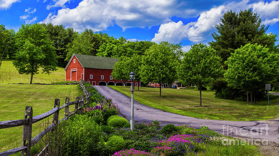 Horse Farm in New Hampshire by New England Photography