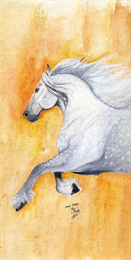 Horse Painting - Horse Feathers by Kay Murphy