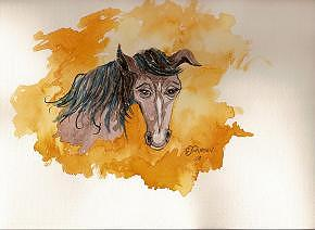 Horse Painting - Horse Feelings by Cookie Johnson