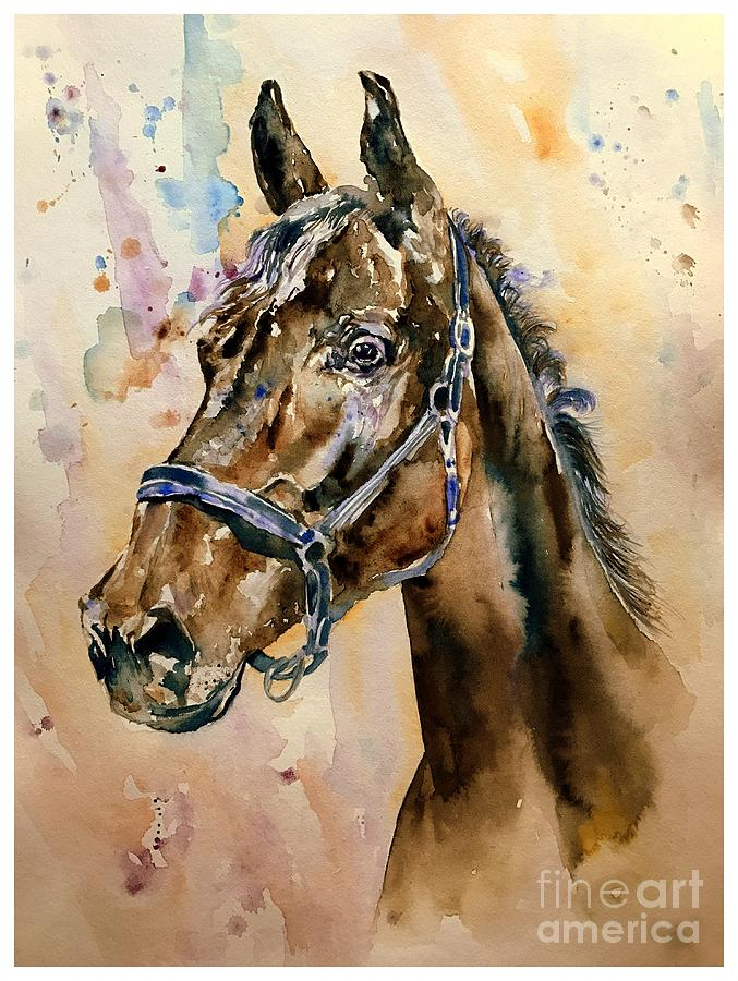 Horse Painting - Horse Head by Suzann Sines