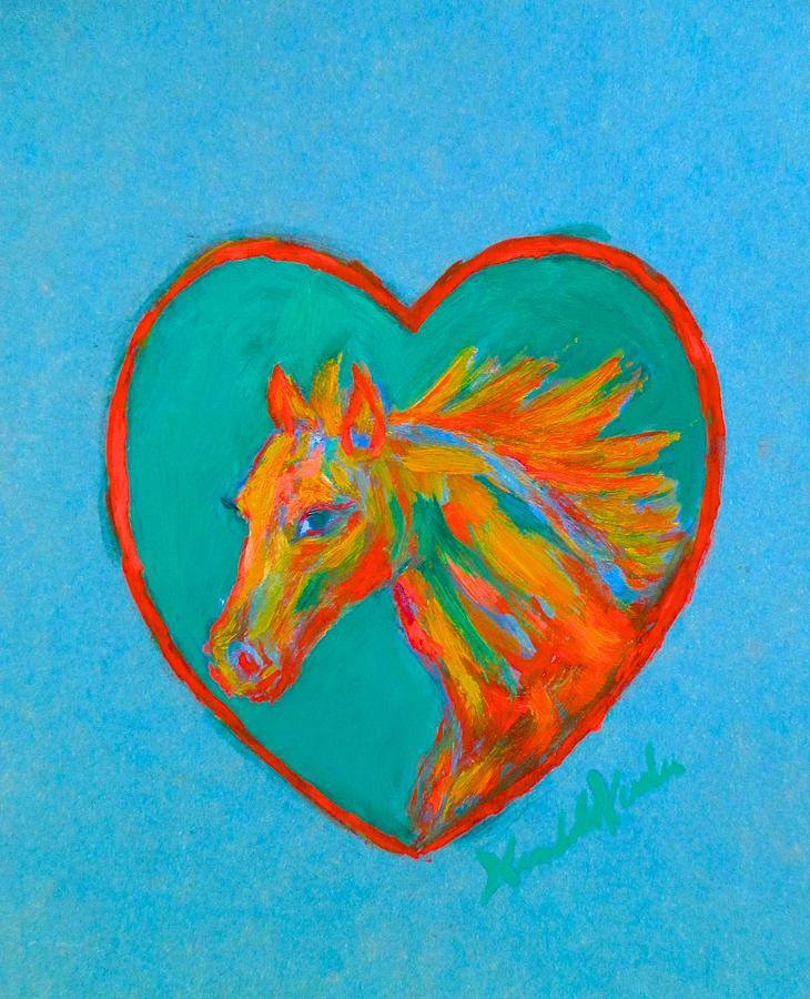 Heart Painting - Horse Heart by Kendall Kessler
