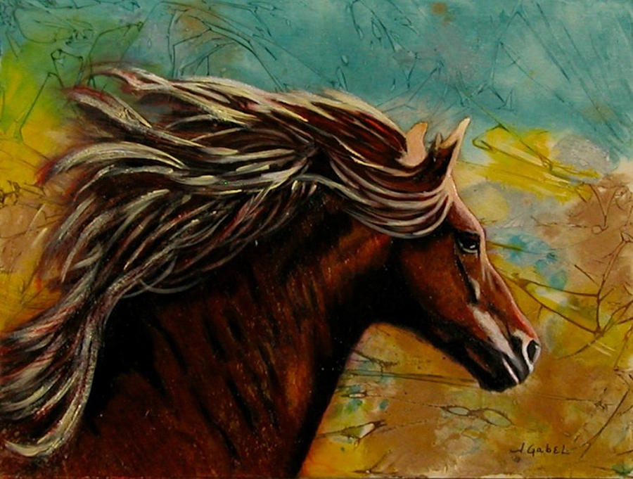 Horse Painting - Horse in Heaven by Laura Gabel