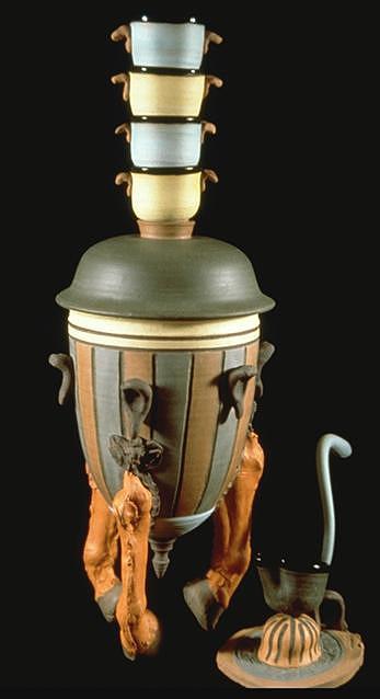Horse Leg Soup Tureen Ceramic Art by Kreg Owens