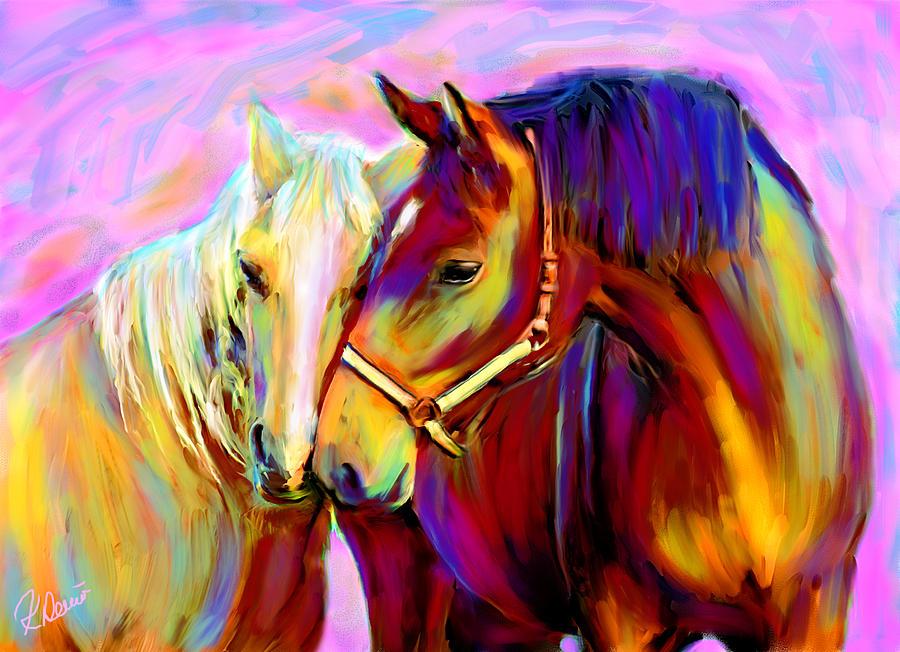 Horse Digital Art - Horse Love by Karen Derrico