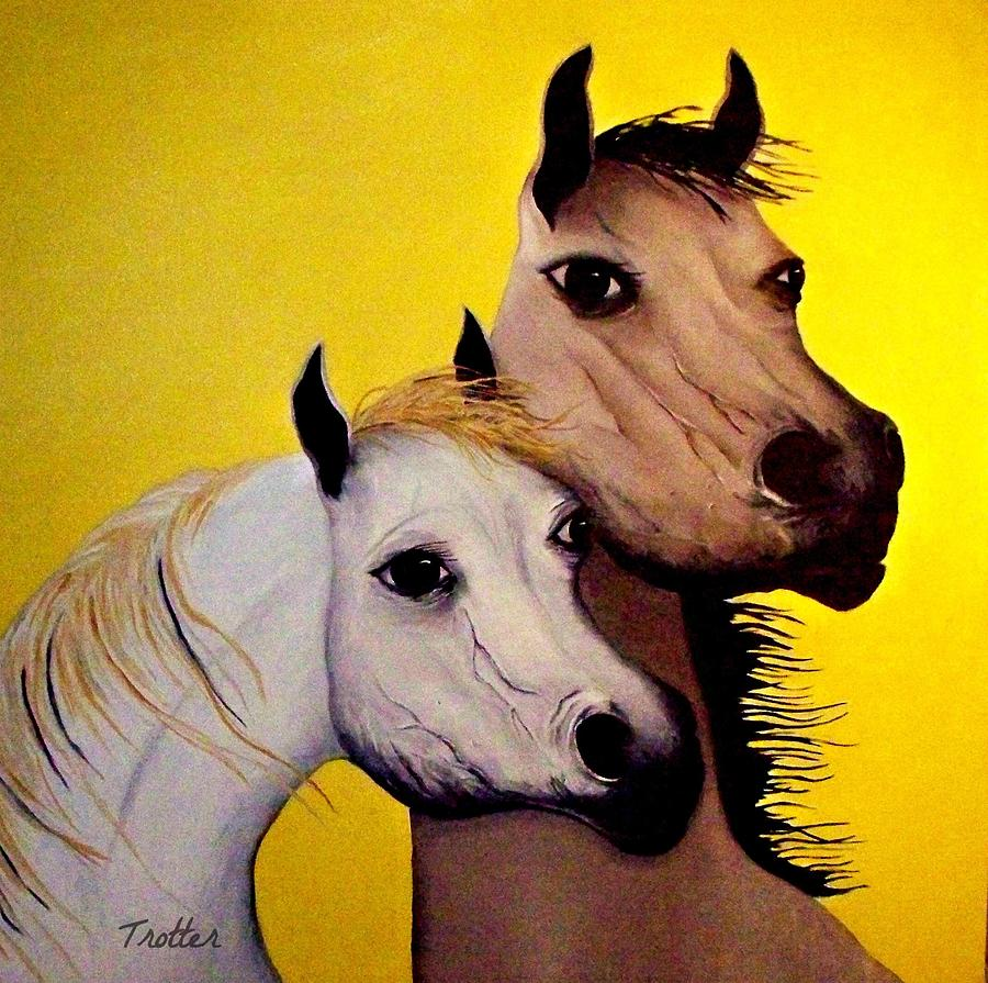 Horse Lovers the Golden Age Painting by Patrick Trotter
