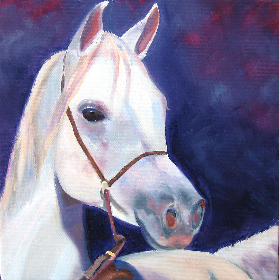 Arabian Horse Painting - Horse Of A Different Color by Vicki Brevell