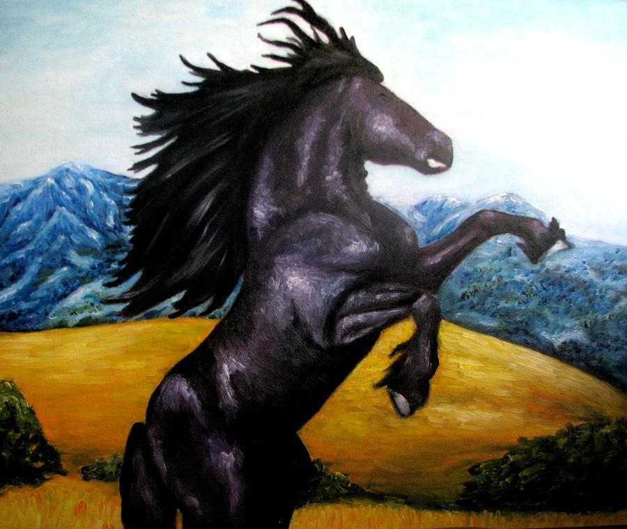 Horse Painting - Horse Oil Painting by Natalja Picugina