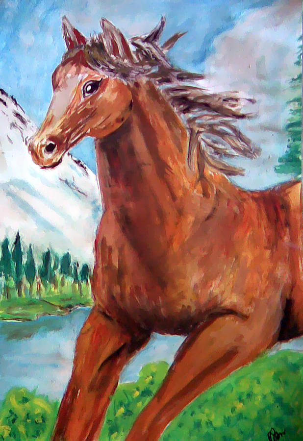 Horse Painting - Horse Painting by Bekim Axhami