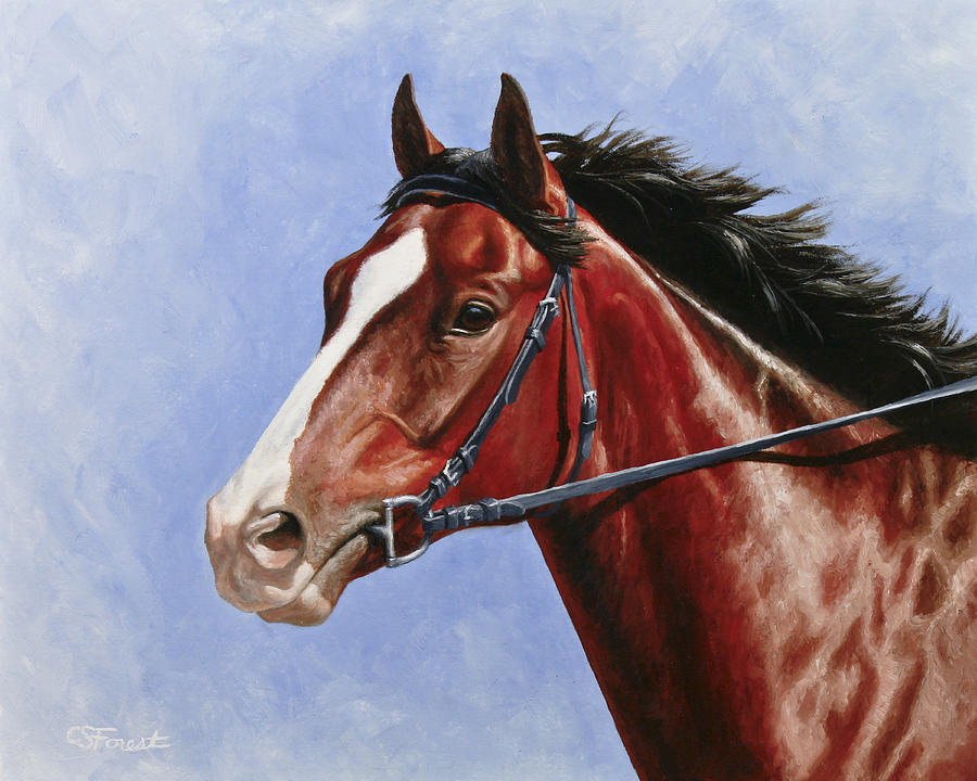 Horse Painting - Horse Painting - Determination by Crista Forest