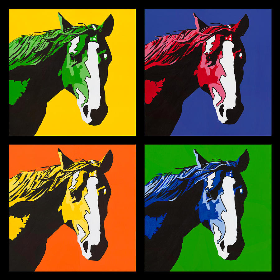 Bright Painting - Horse Play Series by Sonja Olson