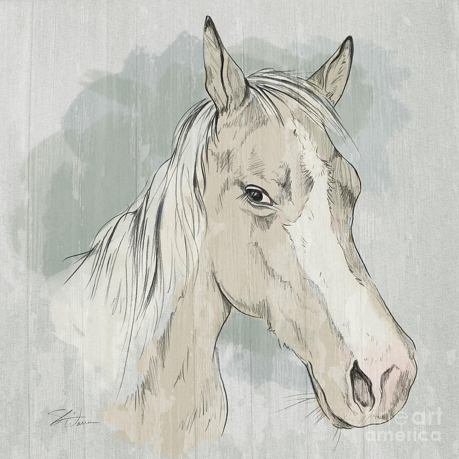 Horse Portrait-Farm Animals by Shari Warren