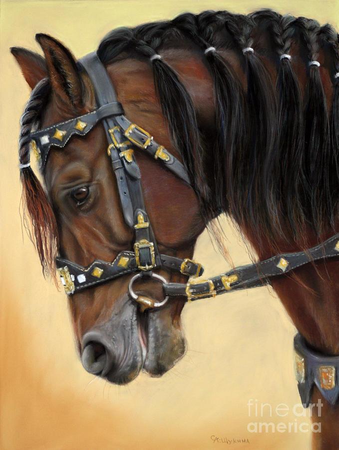 Horse Painting - Horse Portrait  by Svetlana Ledneva-Schukina