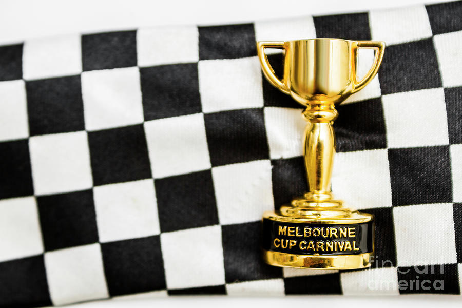 Great Photograph - Horse Races Trophy. Melbourne Cup Win by Jorgo Photography - Wall Art Gallery