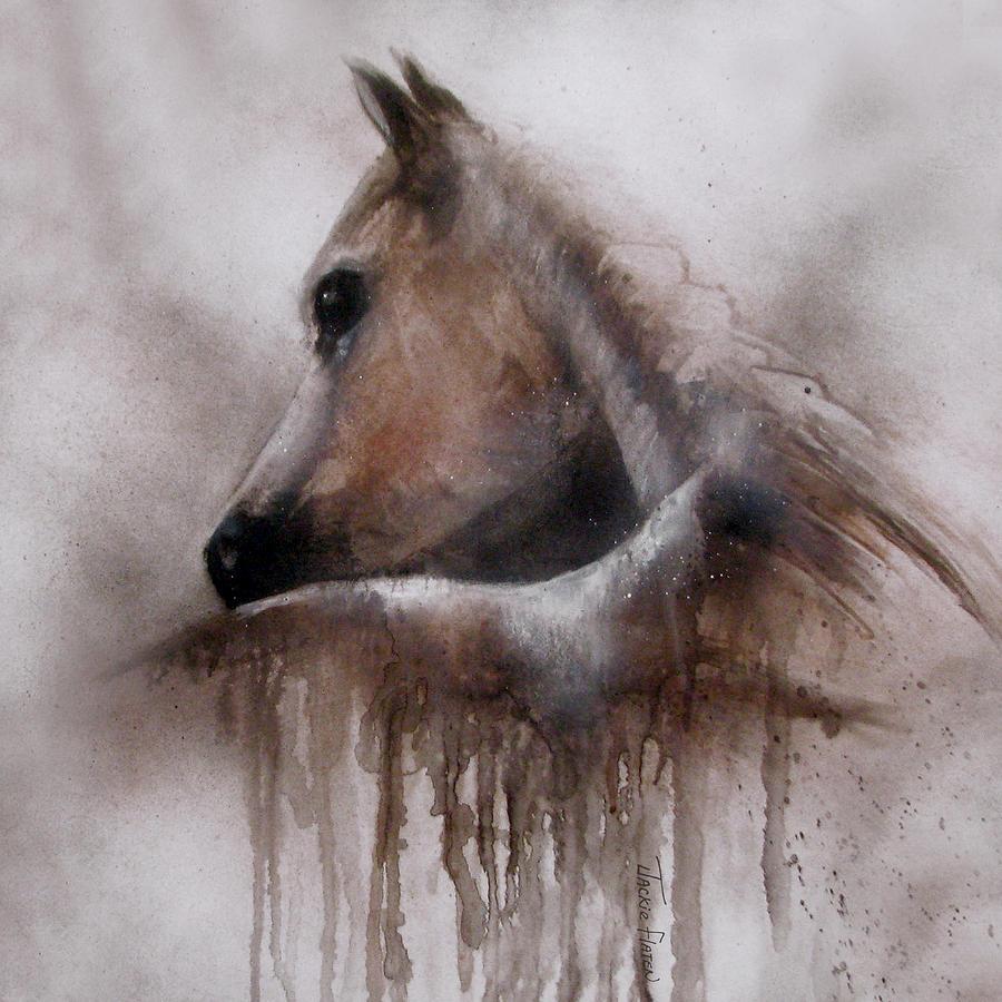 Horse shy by Jackie Flaten