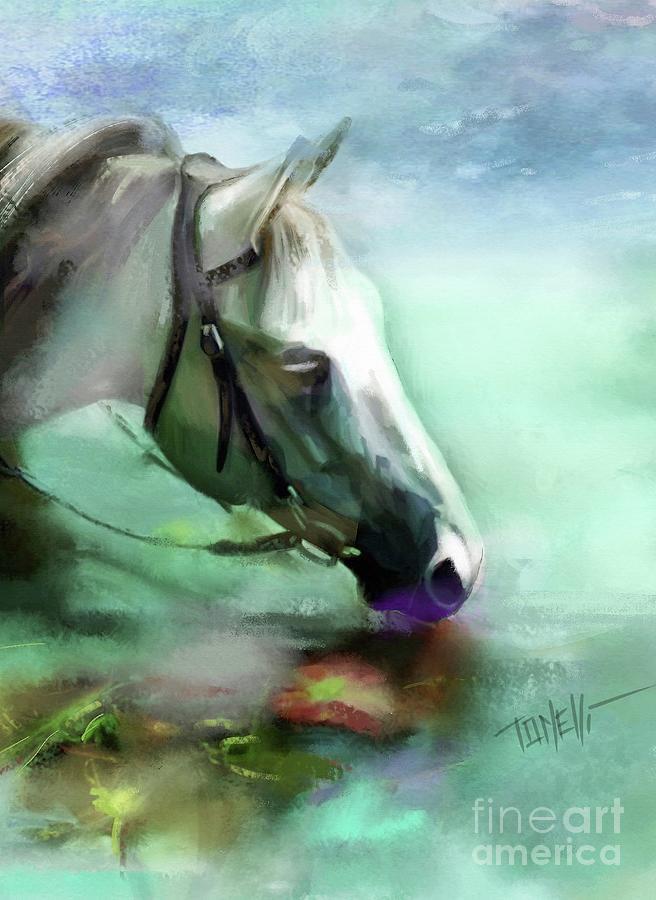 Horse Andalusian Mixed Media