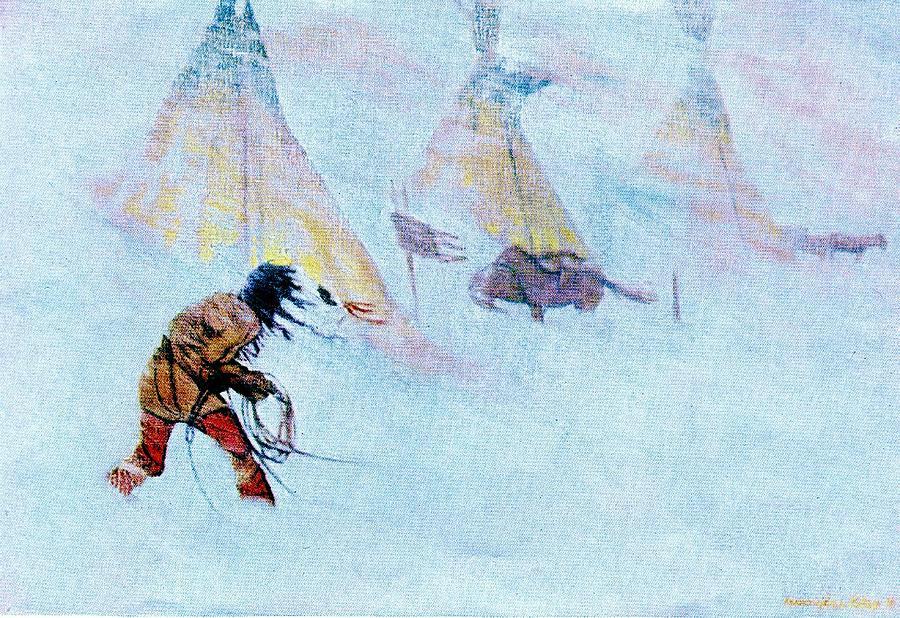 Native Painting - Horse Thief by David  Hicks