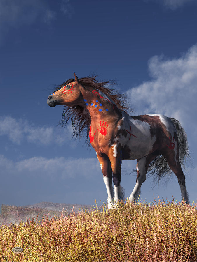 Horse with War Paint by Daniel Eskridge