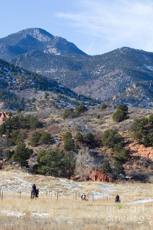 Horseback Riders In Red Rock Canyon Park Photograph