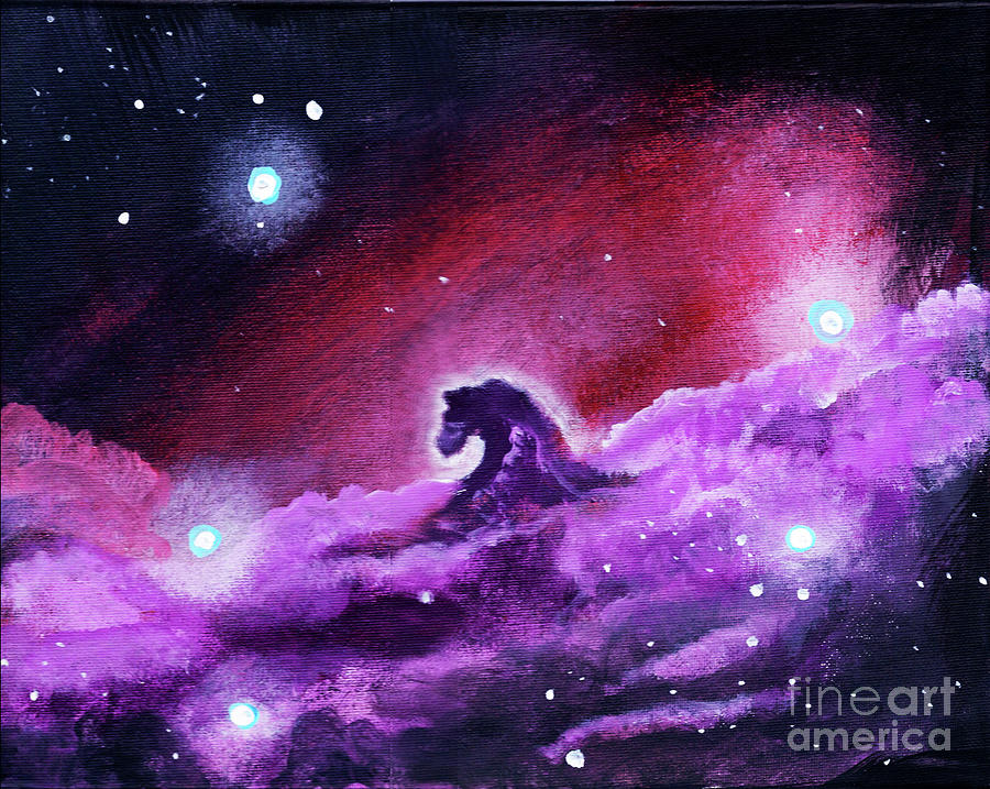 Horse Painting - Horsehead Nebula 1 by Jamie Hartley