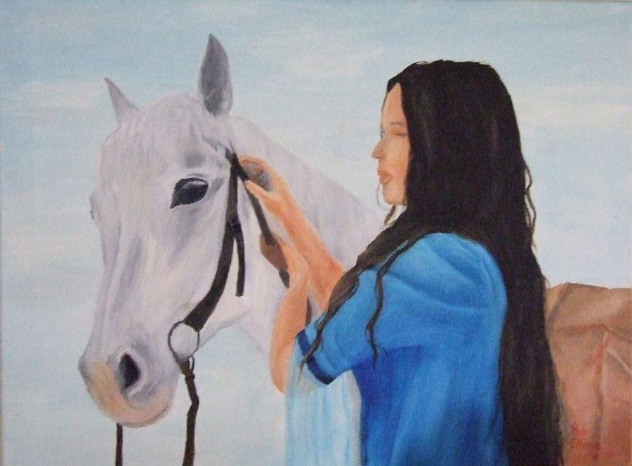 Animals Painting - Horselady by Robert Silvera