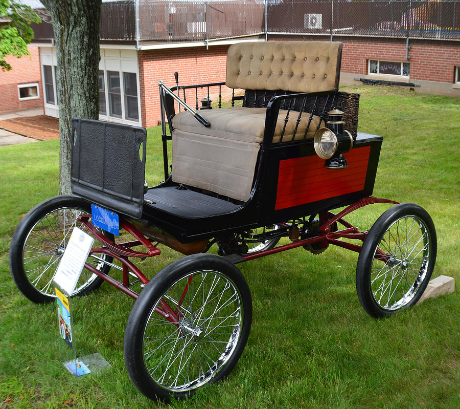 Cars Photograph - Horseless Carriage-c by Charles HALL