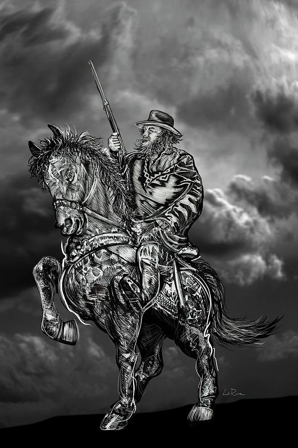 Horseman Mixed Media - Horseman by Doug LaRue