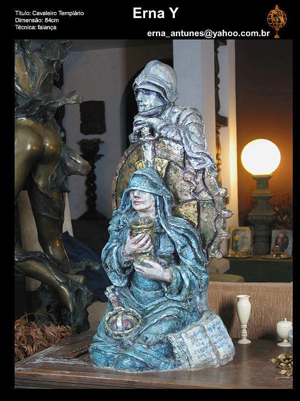 Horseman  Sculpture by Erna Y