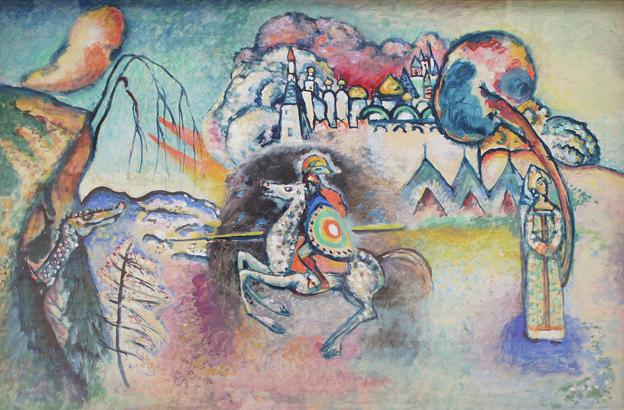 Wassily Kandinsky Painting - Horseman. St. George by Wassily Kandinsky