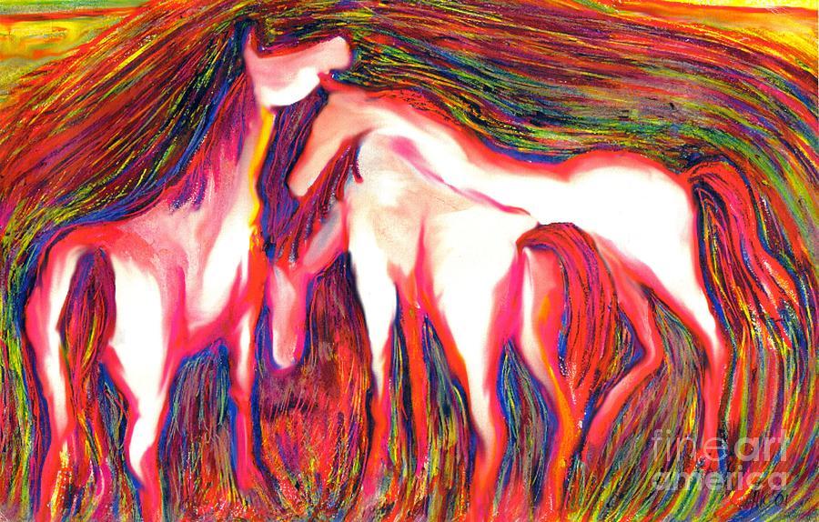Horses Digital Art - Horses 2 by Helene Kippert