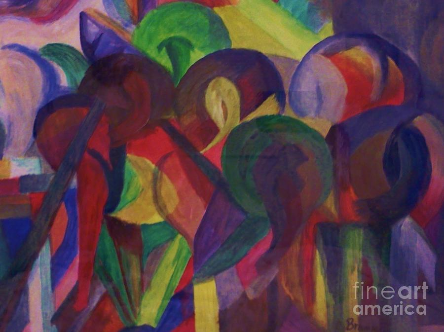 Horses Abstract Painting