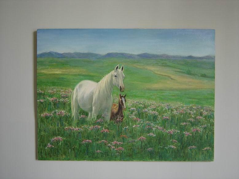 Horse Painting - Horses by Ahmad Maleki