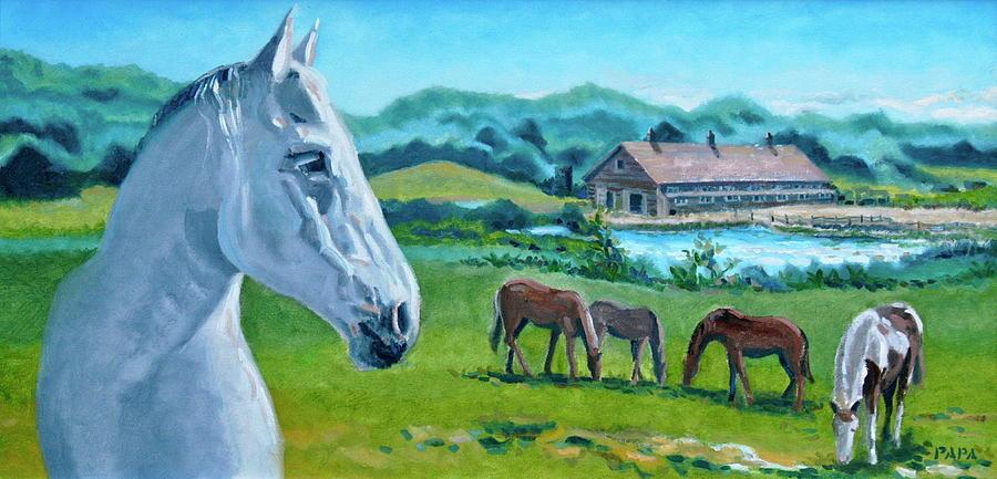 Horses Painting - Horses At Montauk by Ralph Papa