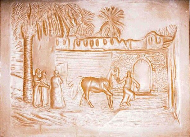 Horses Merchant Relief by Ahmed Shalaby