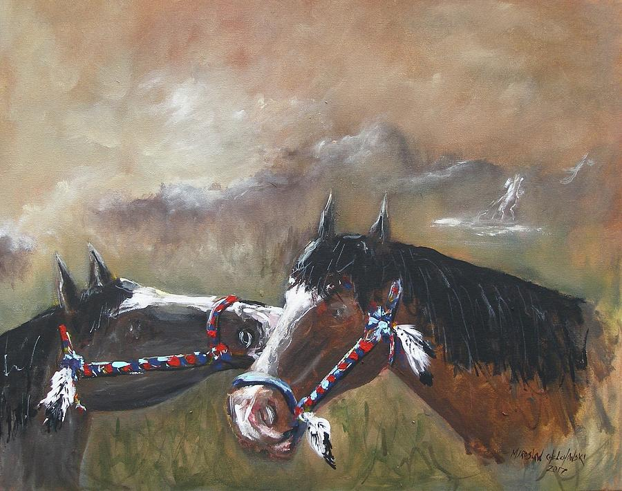 horses by Miroslaw  Chelchowski